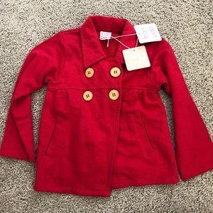 Baobab Organic Cotton Kids Red Swing Coat